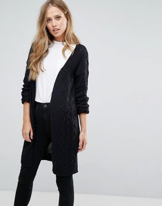 Read more about Vero moda long open knit cardigan - black