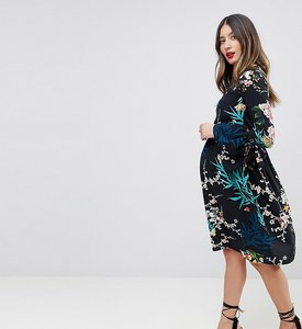 Read more about Queen bee all over floral printed skater dress - multi