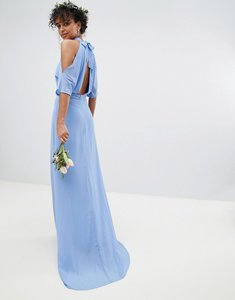 Read more about Tfnc high neck maxi bridesmaid dress with fishtail - bluebell