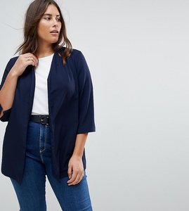 Read more about Asos curve soft chuck on blazer - navy
