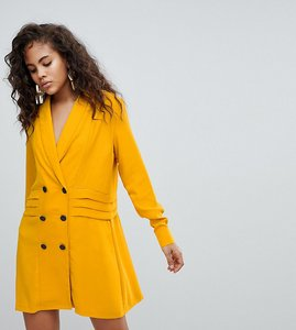 Read more about Asos design tall tux dress with pleat detail - mustard