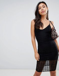 Read more about Missguided mesh spot dress - black