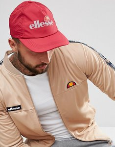 Read more about Ellesse baseball cap with reflective logo in red - red