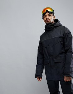 Read more about Burton snowboards breach ski jacket hooded insulated in black - true black black