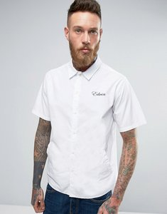 Read more about Edwin pocket bowling shirt short sleeve - white