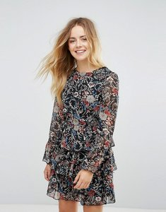 Read more about Brave soul floral 3 tier dress - black
