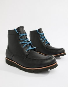 dbda6d018a41 Read more about Ugg agnar leather lace up boots in black - black
