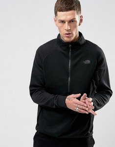 Read more about The north face slacker half zip sweatshirt sports stretch in black - tnf black