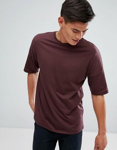 Read more about Kiomi drop shoulder t-shirt in burgundy - bordeaux