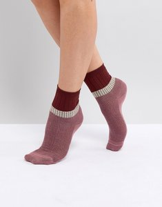 Read more about Vero moda knitted socks - old rose