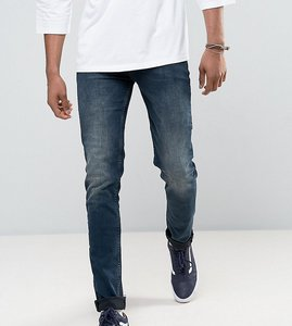 Read more about Asos tall skinny jeans in blue black wash - dark wash blue