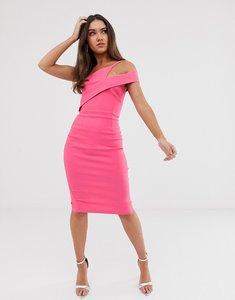 Read more about Vesper midi stretch pencil dress in fuschia