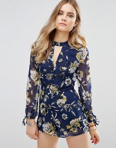 Read more about Band of gypsies tiger festival playsuit - navy yellow