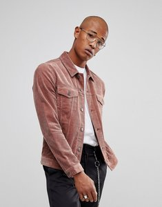Read more about Asos cord jacket in dusky pink - dusky pink