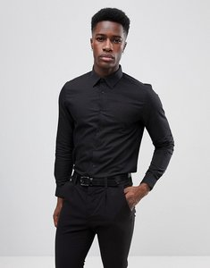 Read more about Burton menswear slim shirt in dobby - black