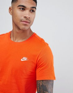 Read more about Nike embroidered futura logo t-shirt in orange 827021-891 - orange