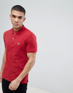 Read more about Lacoste slim fit logo polo shirt in burgundy marl - phd