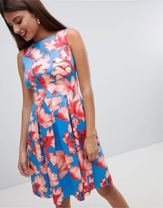 Read more about Closet london floral pleated dress - multi
