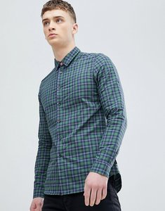 Read more about Ps paul smith slim fit check shirt in green - green