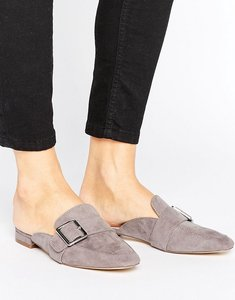 Read more about London rebel buckle mule shoe - grey black mf