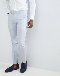 Read more about Farah skinny wedding suit trousers in cross hatch - lake blue
