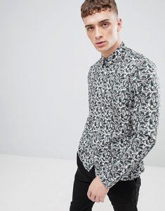 Read more about Pretty green slim fit floral print shirt in green - green