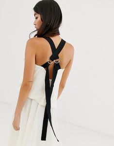 Read more about Asos design textured maxi dress with grosgrain straps