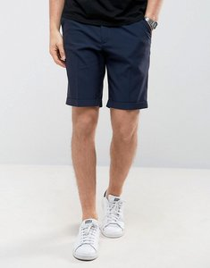 Read more about Asos tailored skinny shorts in navy seersucker stripe - navy