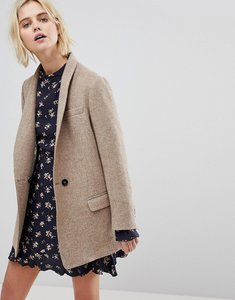 Read more about Leon and harper collarless wool jacket - beige