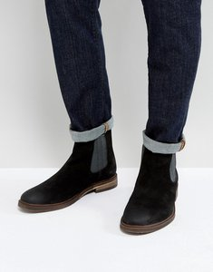Read more about Steve madden teller suede chelsea boots in black - black