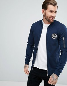 Read more about Hype jersey bomber jacket in navy - navy