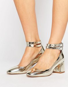 Read more about Asos savoy mid block heels - champagne