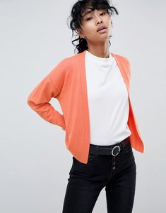 Read more about Asos design cardigan in fine knit - terracotta