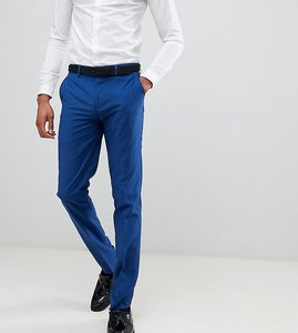 Read more about Farah skinny fit suit trousers in blue - blue