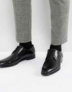 Read more about Hugo c-dresios lace up calf leather derby shoes in black - black 001