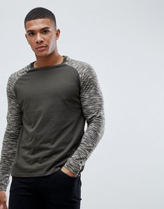 Read more about Brave soul long sleeve crew neck top - green