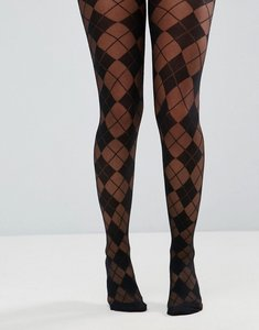Read more about Asos argyle tights - black