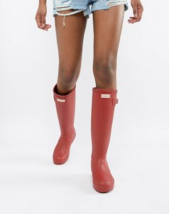 Read more about Hunter red original tall wellington boots - military red