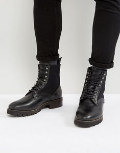 Read more about H london elmore leather lace up boots - black