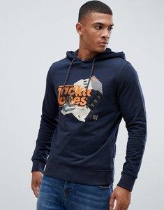 Read more about Jack jones logo sweat hoodie - black