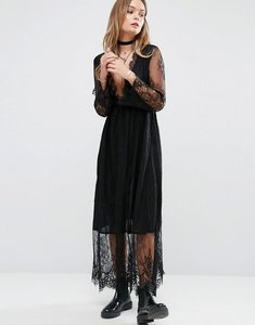 Read more about Glamorous midi dress in lace - black