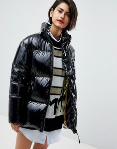 Read more about Tommy hilfiger icon high shine padded jacket - black beauty