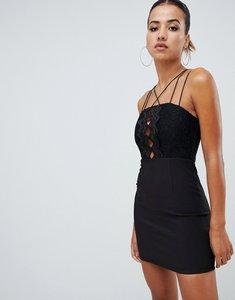 Read more about Rare london zig zag mini dress - black
