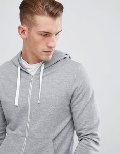 Read more about Produkt basic zip through hoodie - light grey melange