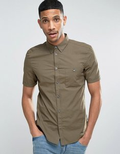Read more about French connection cotton shirt with short sleeves - khaki