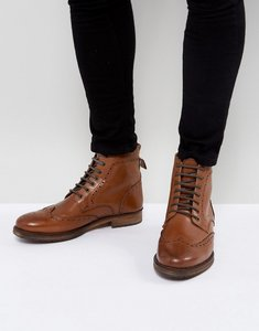 Read more about Kg kurt geiger harry brogue boots in tan - tan