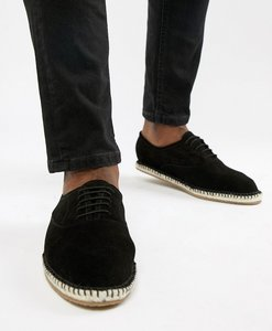 Read more about Kg by kurt geiger lace up espadrilles in black suede - black