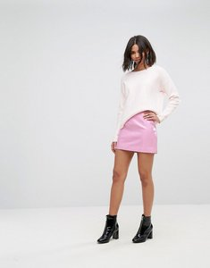 Read more about Miss selfridge vinyl mini skirt - pink