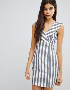 Read more about Asos stripe mini tux dress - multi