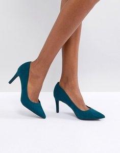Read more about New look suedette pointed court shoe - green